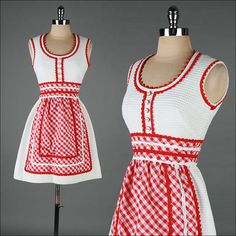 vintage 1960s dress . gingham print Howard by millstreetvintage, $215.00