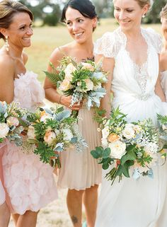 Cleary with her bridesmaids. (Photo Credit: Marni Rothschild) #SouthernWeddings