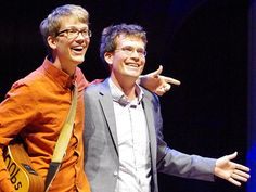 John and Hank Green. They're not only extremely clever and talented, but they inspire others to be extremely clever and talented as well. :)