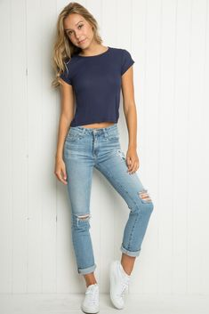 I like the outfit but I would wear it with a longer shirt. -Tori