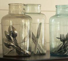 silverware in bottles......cute