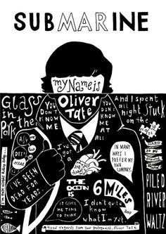 Submarine movie Quotes/Lyrics Compilation Poster Club, Movie Poster Maker, Movie Poster Font, Movie Poster Frames, Movie Posters For Sale, Poster Fonts, Film Posters, Music Posters, Lyric Quotes