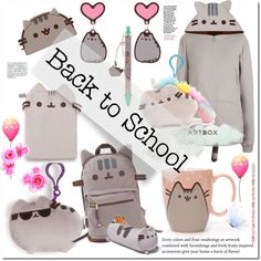 #PVxPusheen by bellamonica on Polyvore featuring polyvore, fashion, style, Pusheen, clothing, contestentry and PVxPusheen