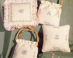 Check out Vintage Cross Stitch -- 1979 Flora Monza Country Crafts by Pat Waters Craft Booklet No. 2 Pillow and Handbag on attictreasuresbyjudy