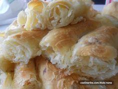 Razvučena pita by Natalija — Coolinarika Pastry Recipes, Bread Recipes, Filo Pastry, Hot Dog Buns, Cheese, Pastries, Breads, Food, Places