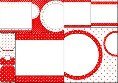 Red and White Polka Dots: Free Printable Invitations.