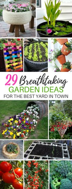 These 29 Front Yard and Backyard Gardening Ideas Are PERFECTION! | DIY Garden | Fairy Gardens | Container Gardening | Raised Bed Gardens #gardening #gardens #gardeningideas #diy #homeprojects