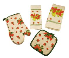 strawberry decor for kitchen | ... decor & Gifts TICO DECORATIONS-KITCHEN APRON,STRAWBERRY APRON DESIGN