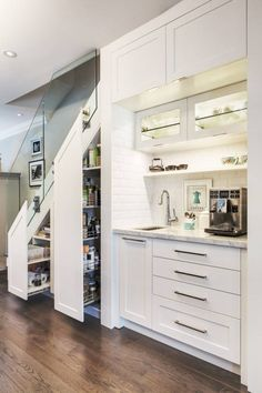 New kitchen food storage cabinet shelves ideas Cabinet Under Stairs, Kitchen Under Stairs, Food Storage Cabinet, Kitchen Storage, Pantry Storage, Pantry Organization, Closet Storage, Storage Cabinets, Pantry Shelving