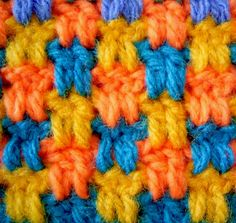 love this stitch 2 double crochet, 2 chains