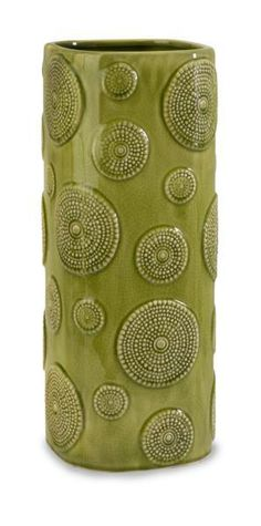 Chelan Green Square Vase