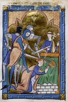 The+Murder+of+Thomas+Becket, from a 1250 Psalter
