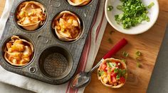 These fun and festive enchilada cups are big on enchilada flavor without the messy assembly.