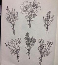 Flower Bouquet Tattoo Designs Shoulder Tats Pinterest Tattoos
