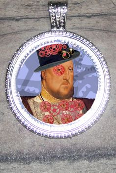 Steampunk Henry VIII Pendant by FunckLoveDesigns