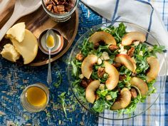 Food network recipes 694469205022199884 - Fresh Peach Salad – Recipe from Food Network Food Network Recipes, Cooking Recipes, Healthy Recipes, Ww Recipes, Family Recipes, Healthy Options, Kitchen Recipes, Vegetarian Recipes, Brown Recipe