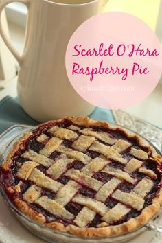 Post image for Scarlett O'Hara Raspberry Pie from @angelaroberts at spinachtiger.com
