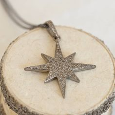 pave set diamond large eight point star necklace by between you & i | notonthehighstreet.com