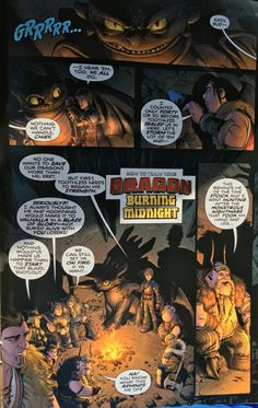 HTTYD OFFICIAL BURNING MIDNIGHT COMIC Part 1