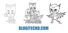 Dibujos de PJ Masks: Imágenes de Héroes en Pijamas para Imprimir y Colorear