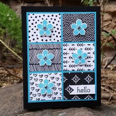Tempting Turquoise with Basic Black, striking color combination :-) Homemade Greeting Cards, Greeting Cards Handmade, Homemade Cards, Hand Stamped Cards, Cricut Cards, Stamping Up Cards, Handmade Birthday Cards, Card Sketches, Paper Cards