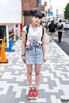 Bunny T-Shirt & Acid Wash in Harajuku