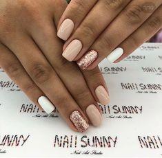 beautiful acrylic short square nails design for french manicure nails 74 French Manicure Nails, Shellac Nails, Gel Nail, Sns Nails Colors, Nail Polish Colors, Square Nail Designs, Nail Art Designs, Nails Design, Colorful Nail Designs