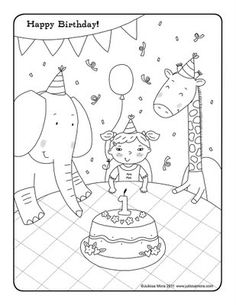 Coloring Happy Birthday Color Page Gallery Photos Bestofcoloring and Birthday Clipart Pages Free Clip Coloring Pictures Happy Birthday Coloring Page Ideas Happy Birthday Coloring Pages, Cute Coloring Pages, Free Printable Coloring Pages, Free Coloring, Coloring Pages For Kids, Kids Coloring, Coloring Book, Cute Happy Birthday, Color Me Mine