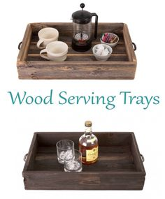 Our reclaimed wood serving trays with metal handles are on sale this month for $38.50. All trays are made of 100% reclaimed wood. Not only are our serving trays great for carrying drinks or hors d'oeuvres when entertaining but they also make great centerpieces for a coffee table!