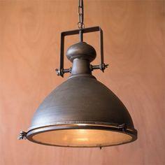 Metal One Light Dome Pendant III Kalalou Dome Pendant Lighting Ceiling Lighting