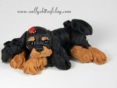 Image result for polymer clay cavalier spaniel