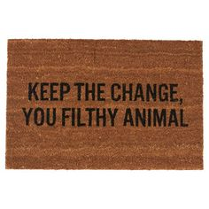 Keep The Change Doormat by Fab | Fab.com