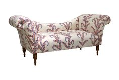 One Kings Lane - The Life Exotic - Hutton Chaise, White/Red/Blue