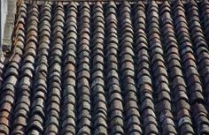 Tile-ribbed roof; quiet side; Venice, Italy.  December 2014.