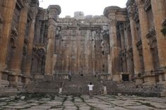 books of baal temples | The cella of the Temple of Bacchus, Baalbek