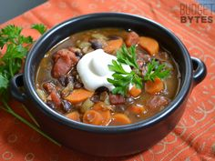 Chunky Lentil & Vegetable Soup