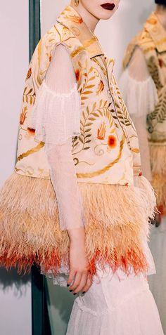 SANDRA MANSOUR Joan Arabesque Feather Embellished Vest