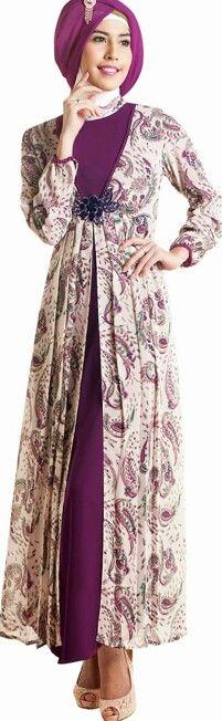 Looks batik long dress