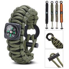 Gonex Paracord 550 Survival Bracelet ** Read more at the image link.