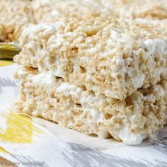 These perfect rice krispie treats are soft, chewy and I guarantee they'll be the best you'll ever have!