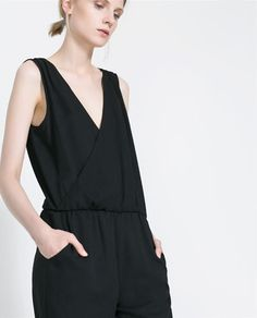 Image 5 of JUMPSUIT WITH ELASTIC WAIST from Zara