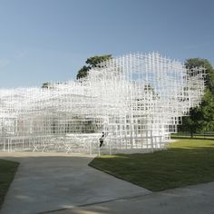 Serpentine Gallery Pavilion 2013 by Sou Fujimoto opens in London's Hyde Park featuring a lattice of steel poles.