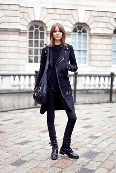 Freya Beha in All Black