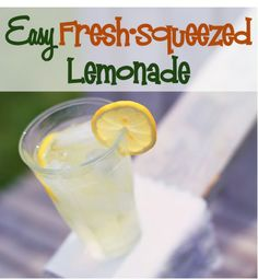 Lemonade Recipe Fresh Squeezed