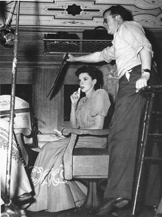 "Judy Garland filming ""The Harvey Girls"" (1945)"