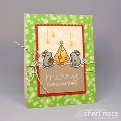Merry Christmouse by Chari Moss using Lawn Fawn STAMPtember exclusives by Simon Says Stamp.