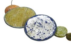 'Sketched series' lined texture in polymer clay by Rebecca Handy http://www.rebeccahandy.co.uk