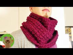 Szydełkowanie | Szal Pętla | Wspaniały szal na zimę również dla panów | Szal podwójna pętla - YouTube