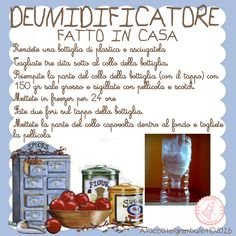 deumidificatore Source by Home Hacks, Organization Hacks, Organizing Tips, Cooking Time, Clean House, Good To Know, Diy Tutorial, Italian Recipes, Helpful Hints