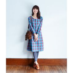 Sanikurauzu Nomino City in it finds Indigo check dress | Felissimo